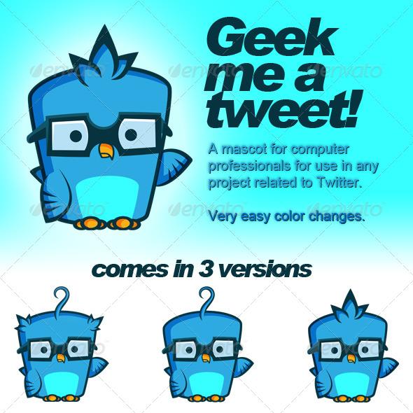 GraphicRiver Twitter Geek Bird 143083