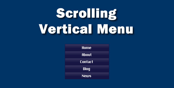 ActiveDen Scrolling Vertical Menu 1167504
