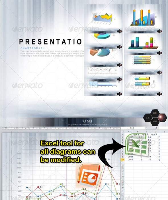 GraphicRiver Excel diagrams 143332