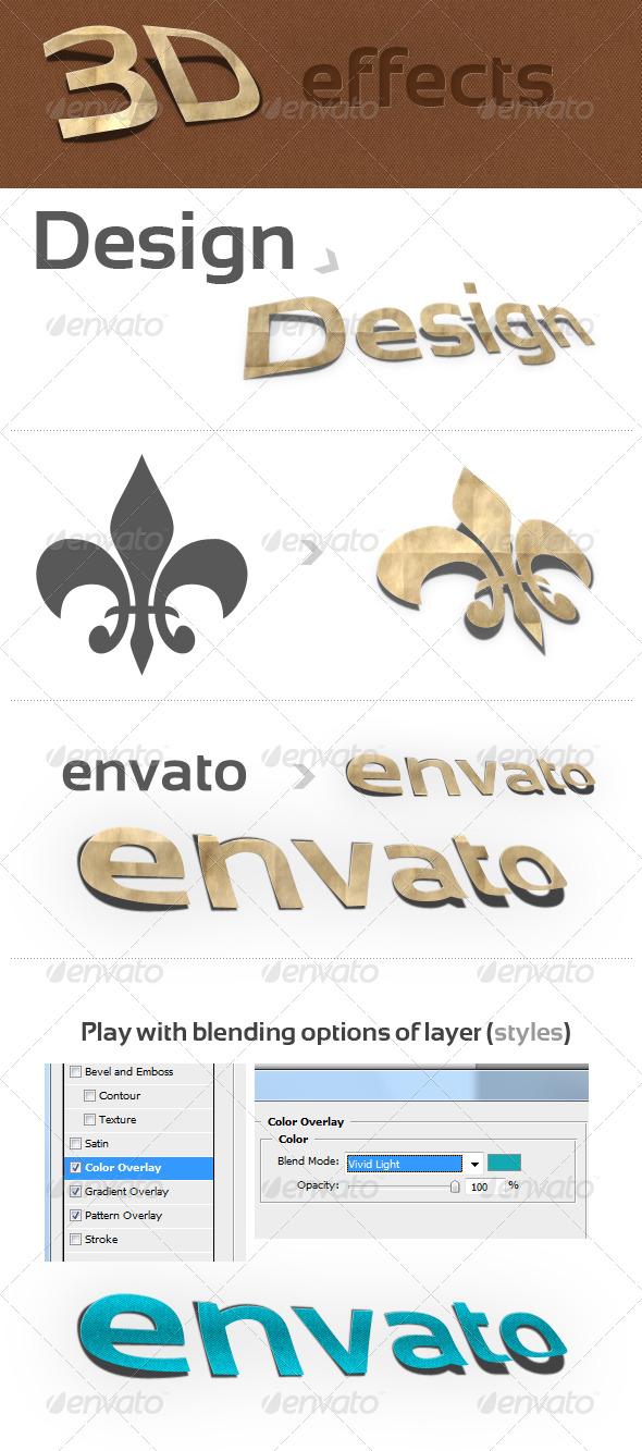 GraphicRiver 3D Photoshop Action v.1 paper effect 141657