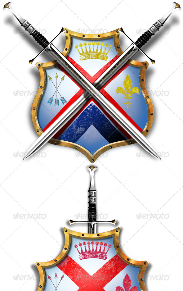 GraphicRiver Shield with Two Crossed Swords 143400