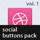 Social Buttons Pack, Vol. 1 - GraphicRiver Item for Sale