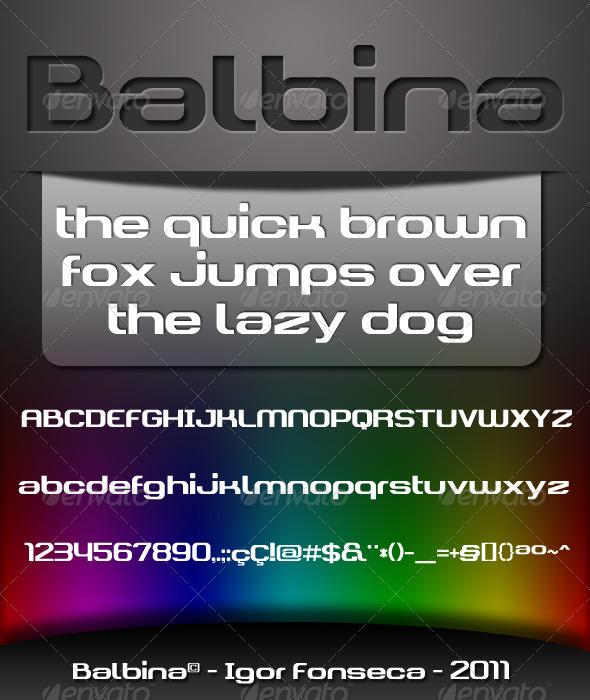 GraphicRiver Balbina Font 1147982