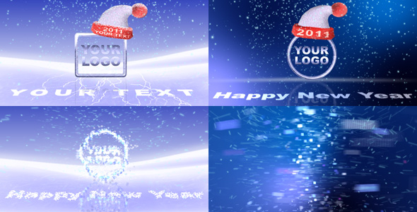 After Effects Project - VideoHive Logo of the ice particles 142985