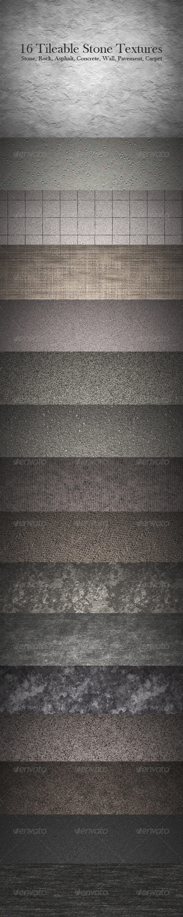 GraphicRiver 16 Tileable Stone Texture Patterns 143774