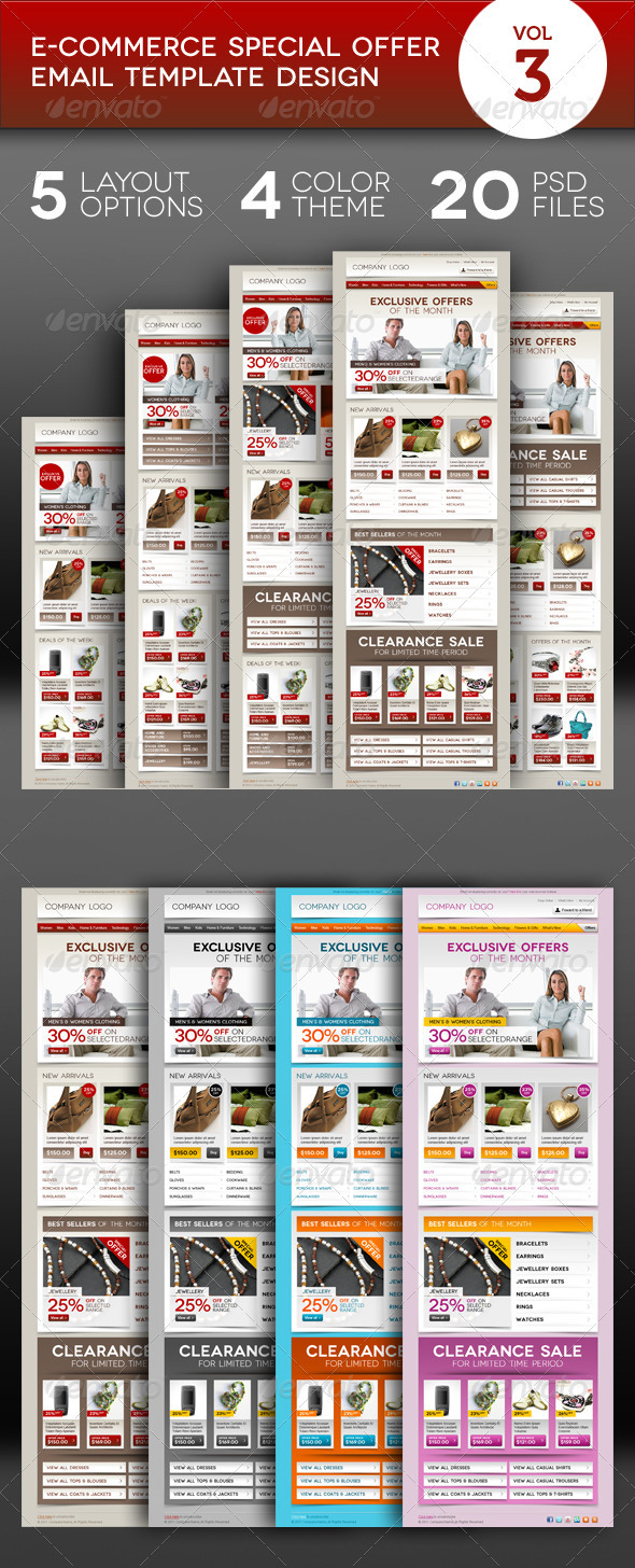 GraphicRiver E-commerce Offers Email Template Design Vol.3 1176313