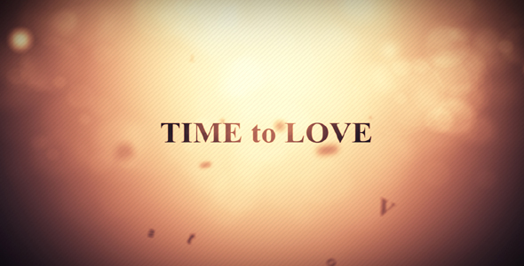 After Effects Project - VideoHive Time to love 144195