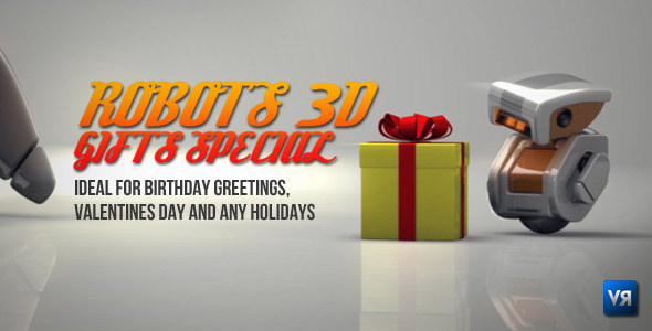 After Effects Project - VideoHive Robots 3D gifts special 1182697