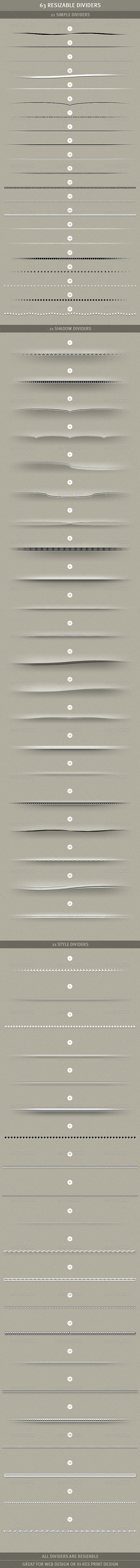 GraphicRiver 63 Resizable Dividers 1054690
