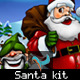 Santa Claus and Santa's Little Helpers PSD Kit - GraphicRiver Item for Sale