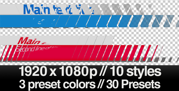 After Effects Project - VideoHive Elegant Lower 3rds with Simple Shapes Series of 10 143999