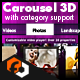 Real 3D Carousel with category support - ActiveDen Item for Sale