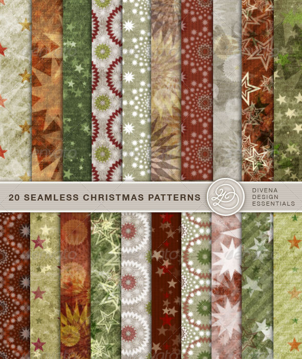 GraphicRiver 20 Seamless Christmas Patterns Vol 02 144962