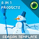 Extendable Season Website Template - ActiveDen Item for Sale