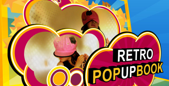 After Effects Project - VideoHive retro popup book intro 145464