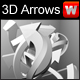 3D arrows (x10) layered PSD - GraphicRiver Item for Sale