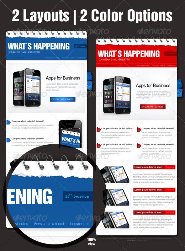 GraphicRiver Business eNewsletter Design 1195810