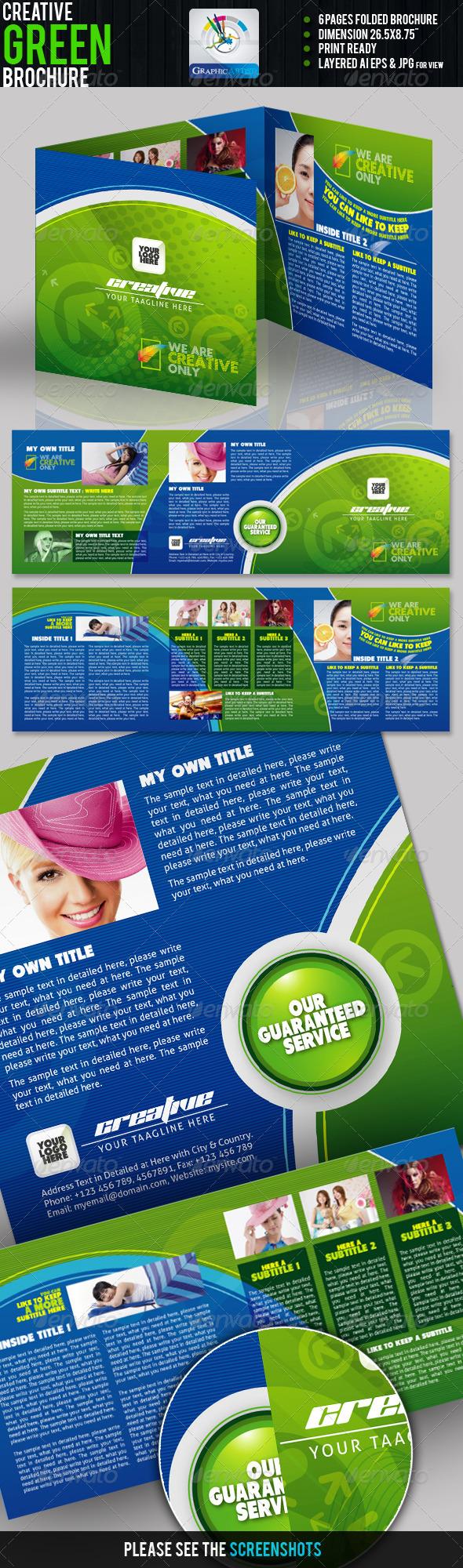 GraphicRiver Creative Green Tri-fold Brochure 1200275