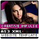 Creative Impulse AS3 XML Website Template - ActiveDen Item for Sale