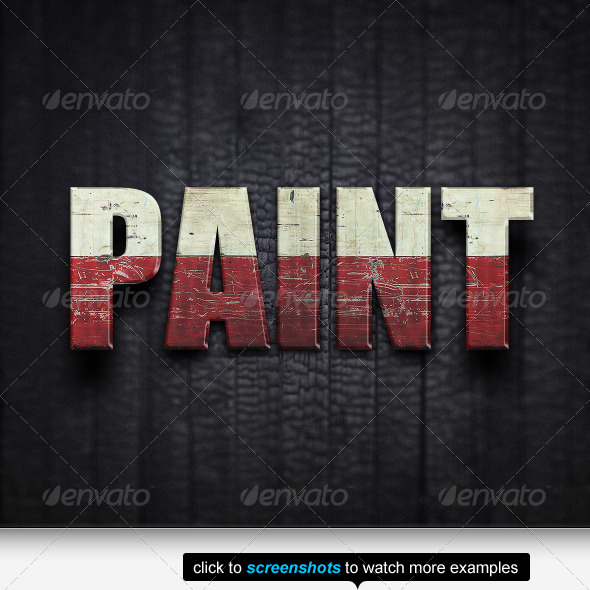 GraphicRiver The Old Paint Text Effects & Styles 146628