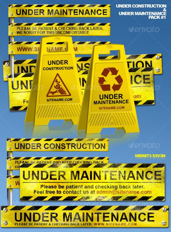 GraphicRiver Under Construction & Under Maintenance Pack #1 48582