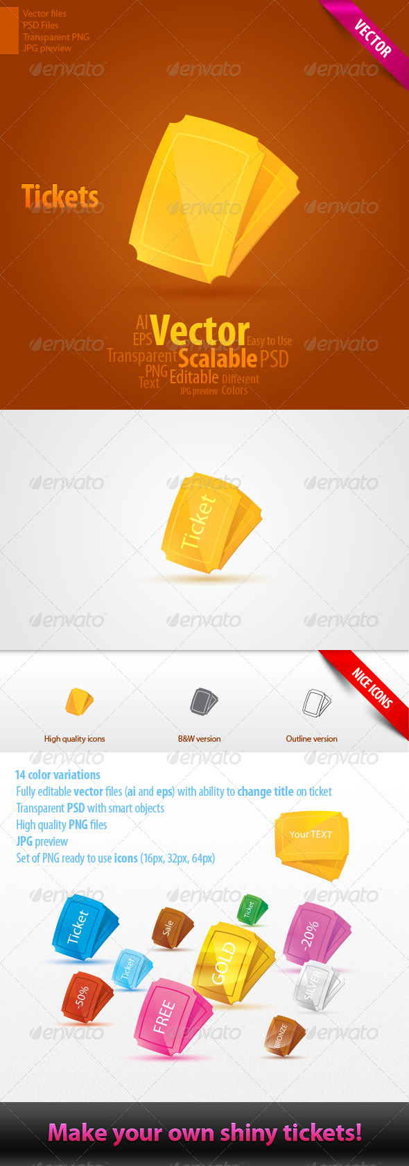 GraphicRiver Glossy Tickets 146805