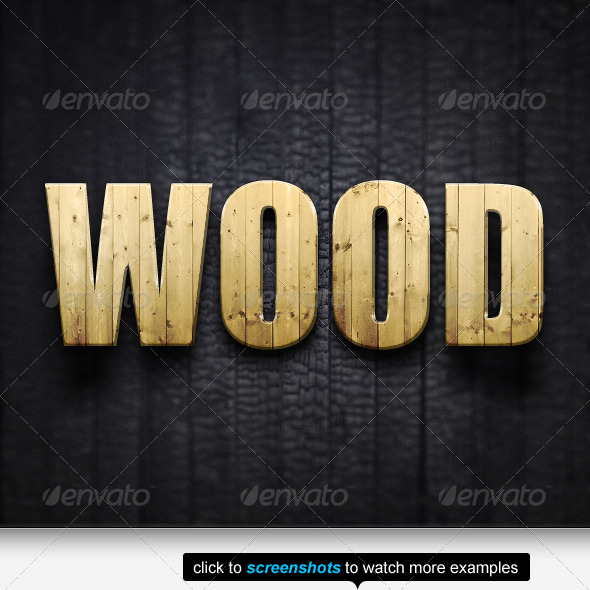 GraphicRiver The Best Wood Text Effects & Styles 146913