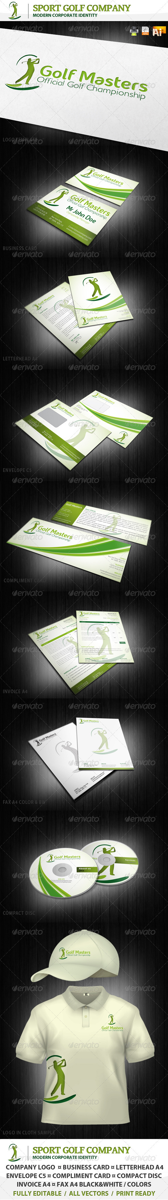 GraphicRiver Sport Golf Company Corporate Identity & Logo 1205288