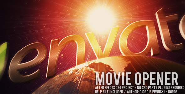 After Effects Project - VideoHive Movie Opener 147082