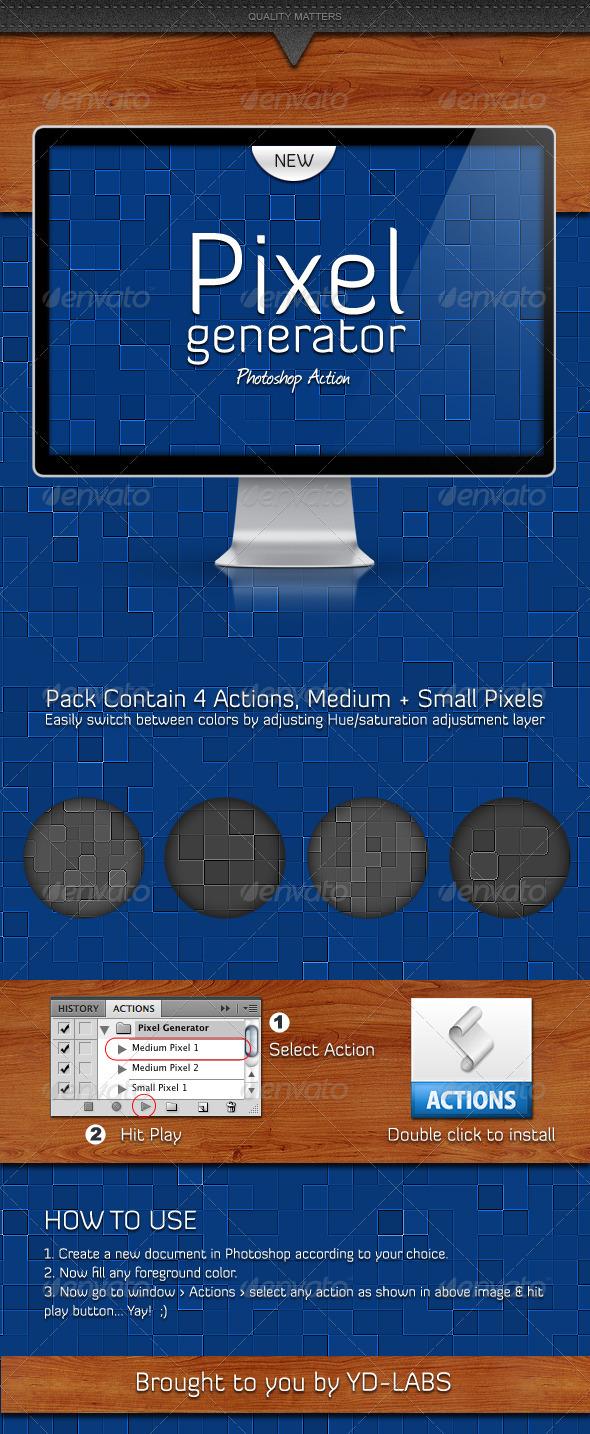 GraphicRiver Pixel Generator 1207951
