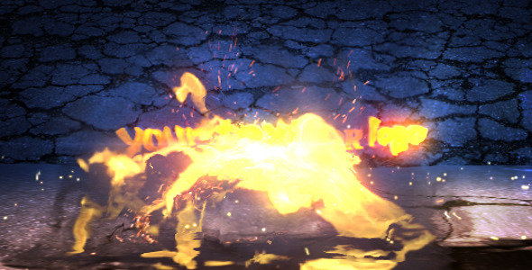 After Effects Project - VideoHive Fiery Reveal 2 Versions 1209091