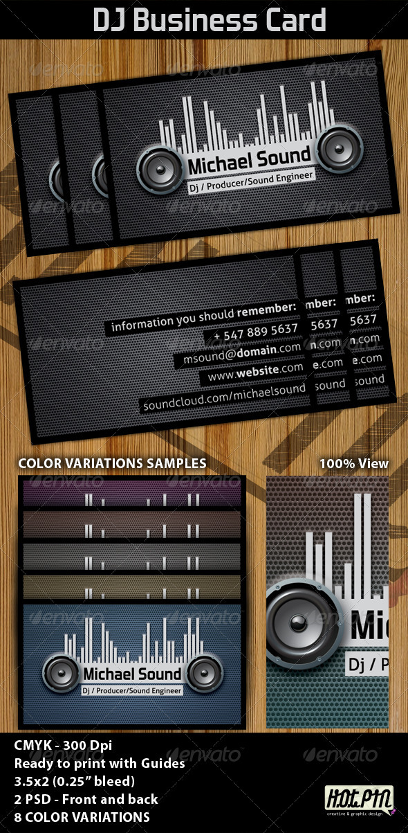 GraphicRiver Dj Business Card Template 1210291