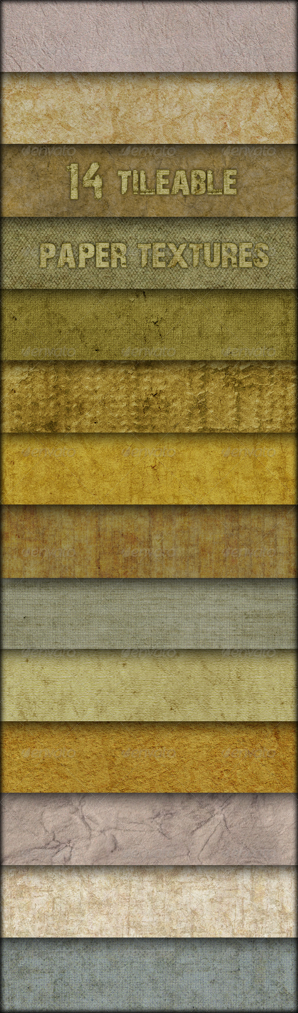 GraphicRiver 14 Tileable paper textures 147662