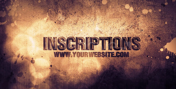 After Effects Project - VideoHive Inscriptions 147664