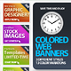 Colored Web Banners - GraphicRiver Item for Sale