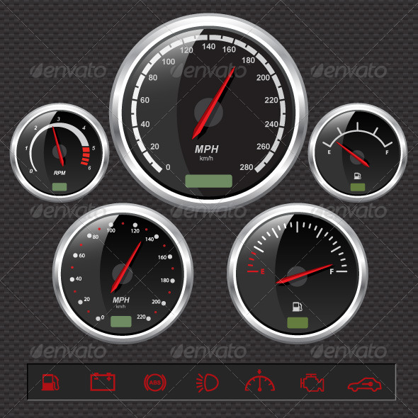GraphicRiver Speedometers 147706