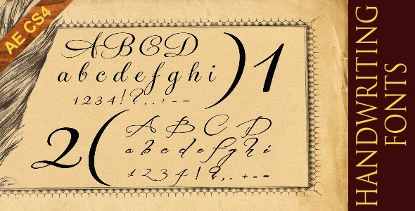 After Effects Project - VideoHive Handwriting Fonts 1186531