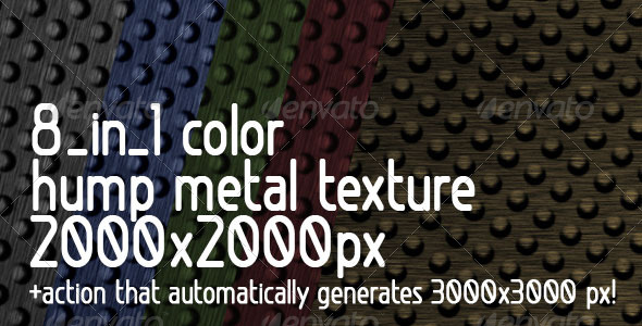 GraphicRiver 8 in 1 color Hump Metal Texture & Action 109537