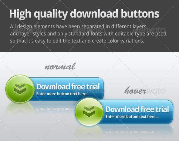 GraphicRiver Web 2.0 Download button 148724
