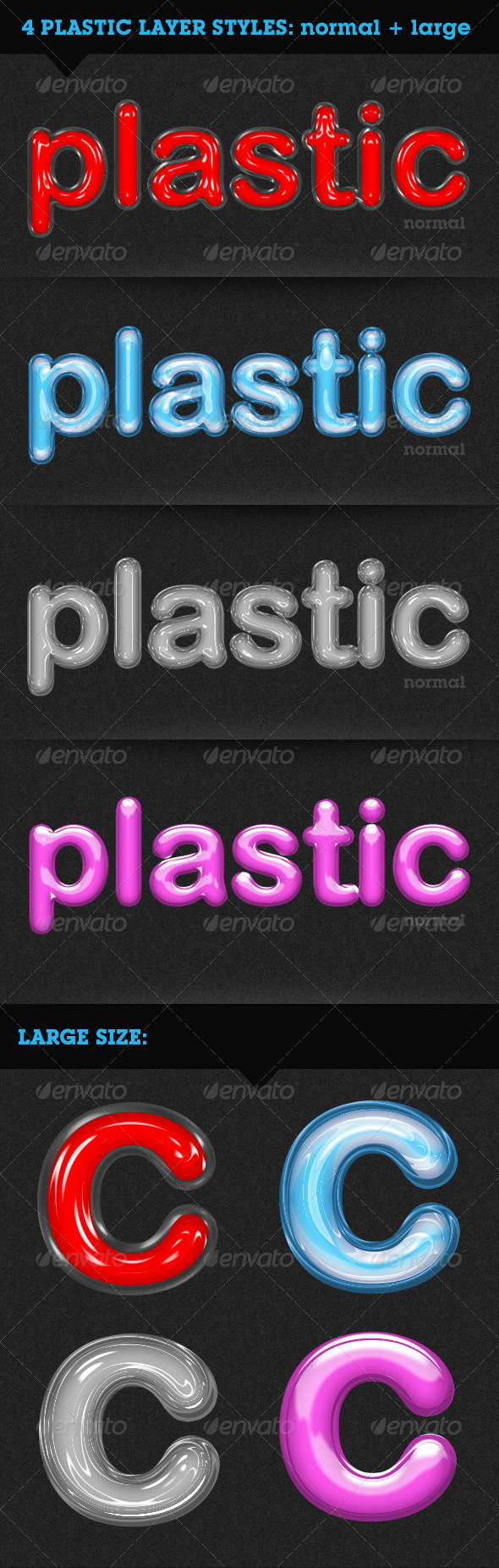 GraphicRiver Plastic Text 148866