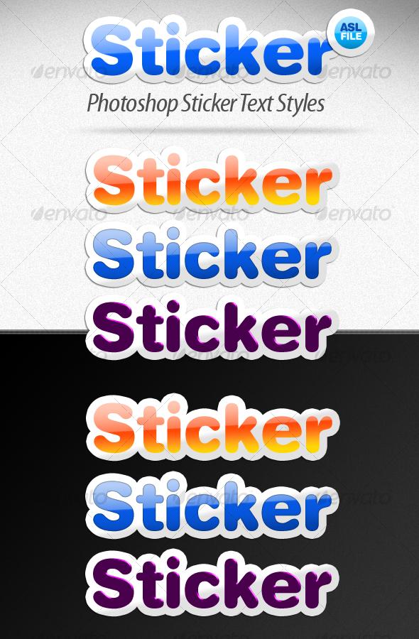 GraphicRiver Sticker Text Styles 40163