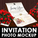 Invitation Mockup and/or Photo Display - GraphicRiver Item for Sale