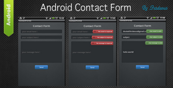 CodeCanyon Android Contact Form 1227979