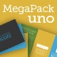 Mega Pack Uno / Brochure + Business Card + Mock Up - GraphicRiver Item for Sale
