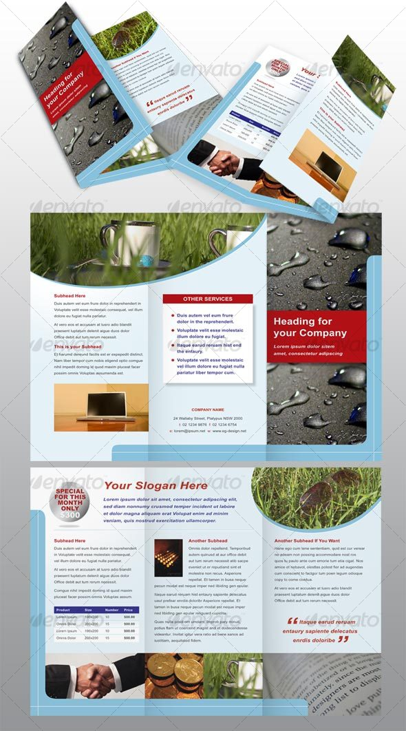 GraphicRiver 6 page modern brochure 49641