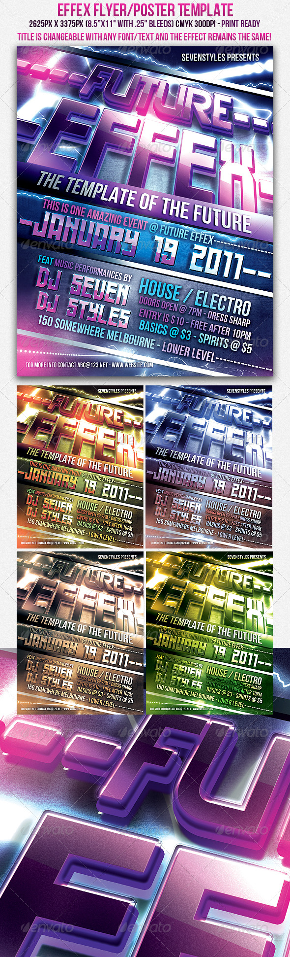 GraphicRiver Effex Poster Flyer Template 149712