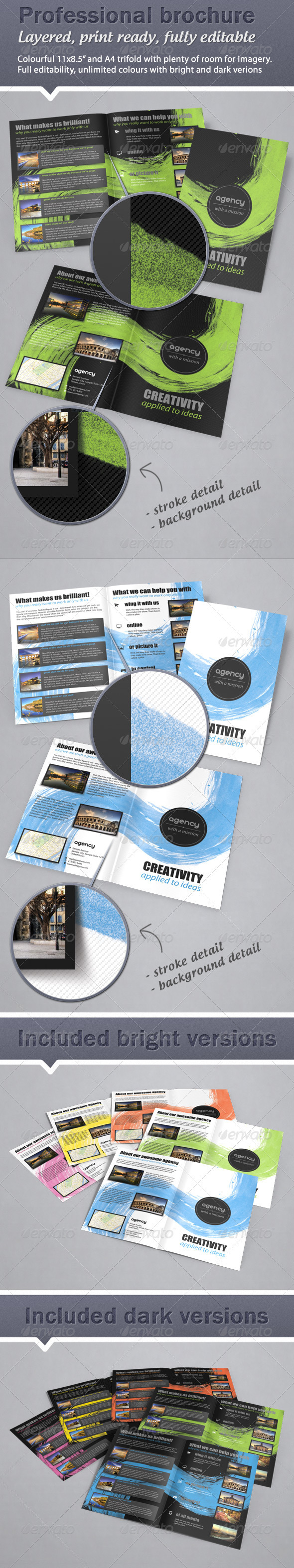 GraphicRiver Colorful Fresh Bifold Brochure 11x8.5 & A4 1224035