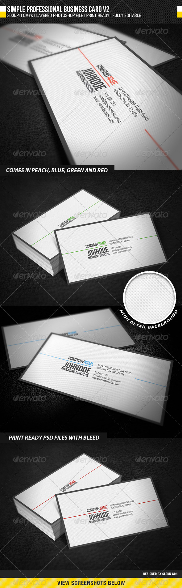 GraphicRiver Simple Professional Business Card V2 1236886