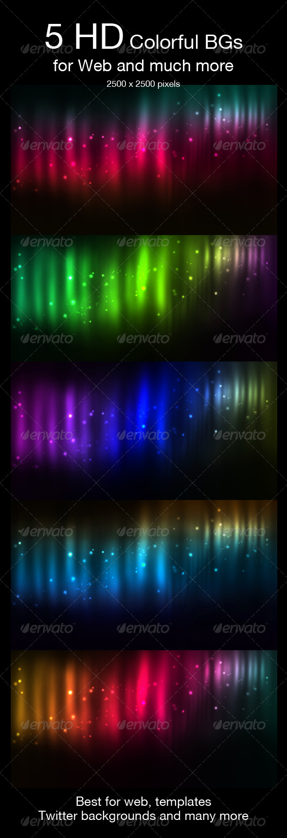 GraphicRiver 5 HD Space Backgrounds 150030