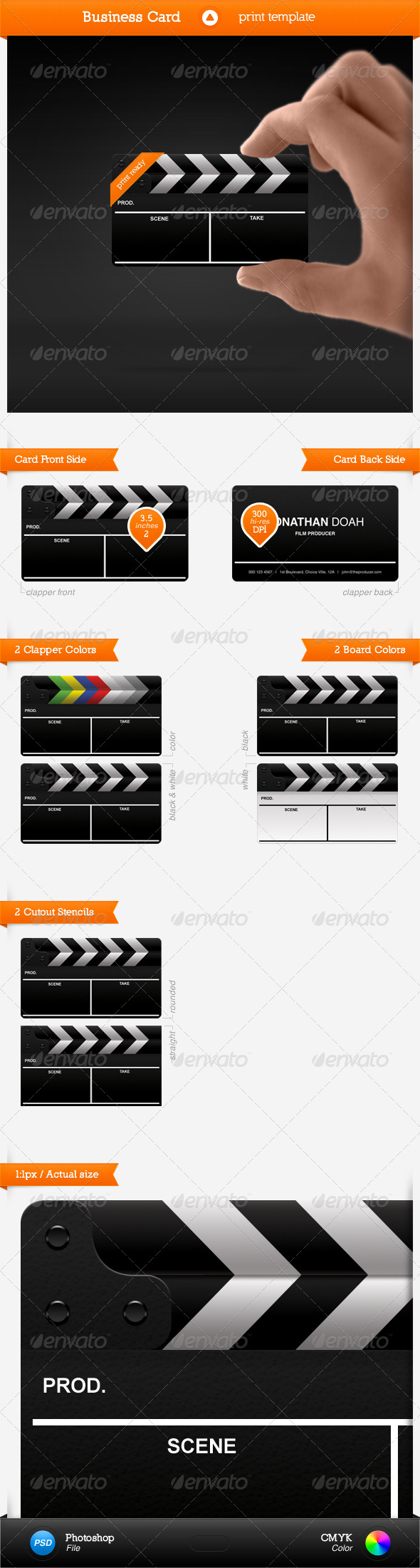GraphicRiver Film Card 135593